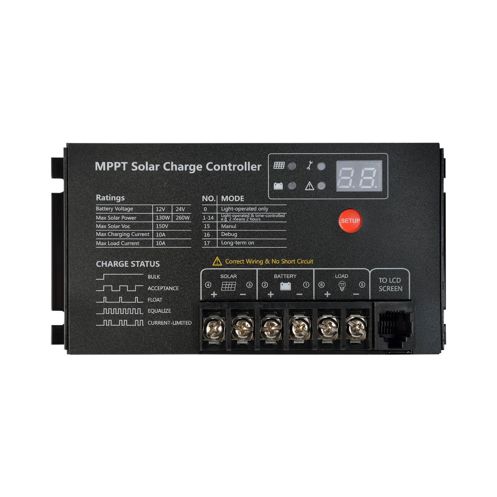 SRNE MPPT 12V/24V 10A ML Series