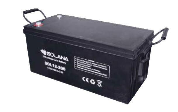 SOLANA – Battery VRLA Deep Cycle 200Ah 12V